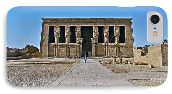 Temple Of Hathor Near Dendera-egypt IPhone Case by Ruth Hager