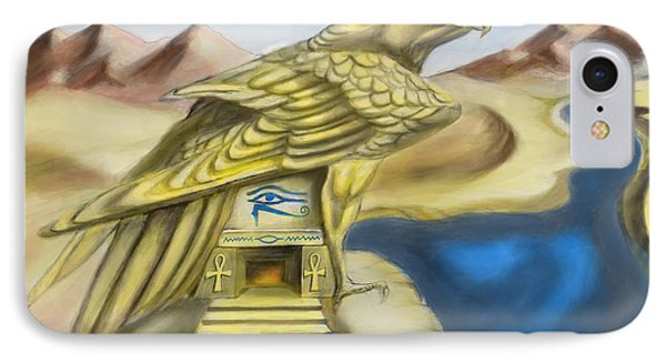 Temple Of Horus One Of Three Phone Case by Michael Cook