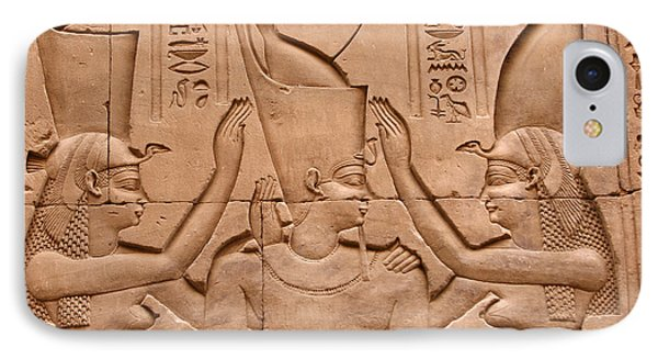 Temple Of Horus Relief IPhone Case by Stephen & Donna O'Meara