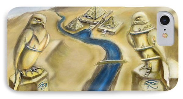 Temple Of Horus Two Out Of Three Phone Case by Michael Cook