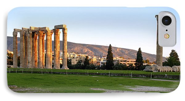 Temple Of Olympian Zeus. Athens IPhone Case by Ilan Rosen