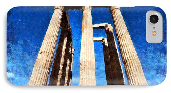 Temple Of Olympian Zeus  Phone Case by George Atsametakis