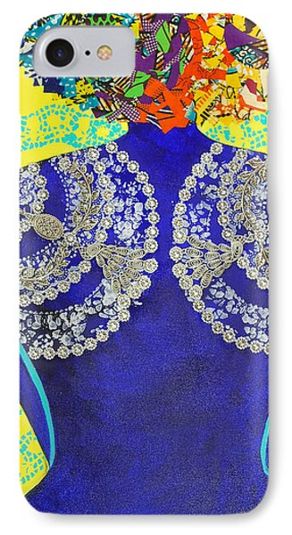 IPhone Case featuring the tapestry - textile Temple Of The Goddess Eye Vol 3 by Apanaki Temitayo M