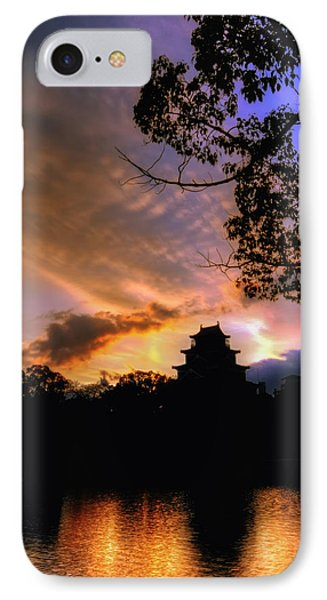 IPhone Case featuring the photograph A Temple Sunset Japan by John Swartz