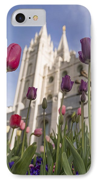 Temple Tulips Phone Case by Chad Dutson