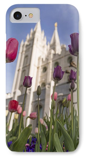 Temple Tulips IPhone Case by Chad Dutson