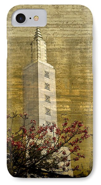 IPhone Case featuring the photograph Temple With Red by Kevin Bergen