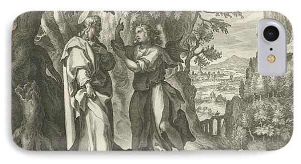 Temptation Of Christ In The Desert, Print Maker Cornelis IPhone Case