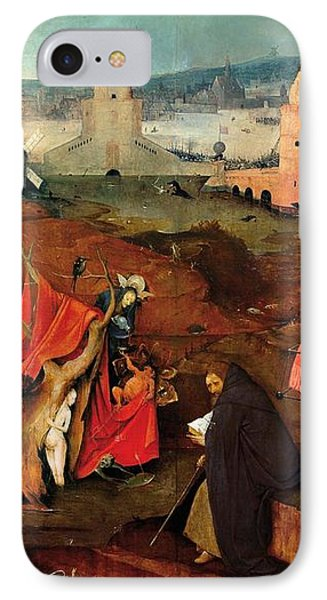 Temptation Of Saint Anthony - Right Wing IPhone Case by Hieronymus Bosch