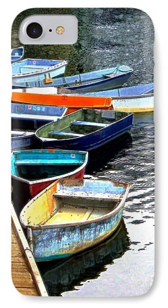 Ten Rockport Dinghies IPhone Case by Dale   Ford