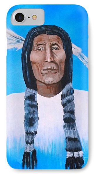 Chief Wolf Robe IPhone Case by Donna Dixon
