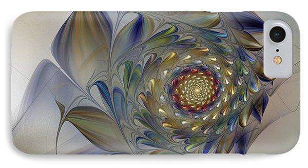 Tender Flowers Dream-fractal Art IPhone Case by Karin Kuhlmann