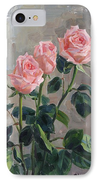 Tender Roses Phone Case by Victoria Kharchenko