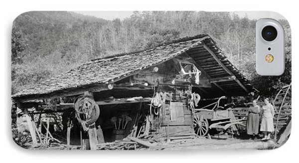 Tennessee Corn Crib, 1936 IPhone Case by Granger