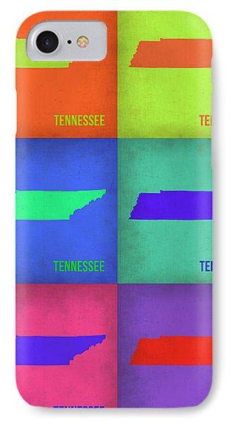Tennessee Pop Art Map 1 Phone Case by Naxart Studio
