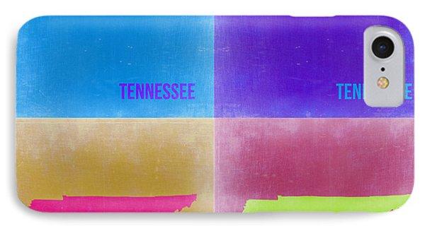 Tennessee Pop Art Map 2 Phone Case by Naxart Studio
