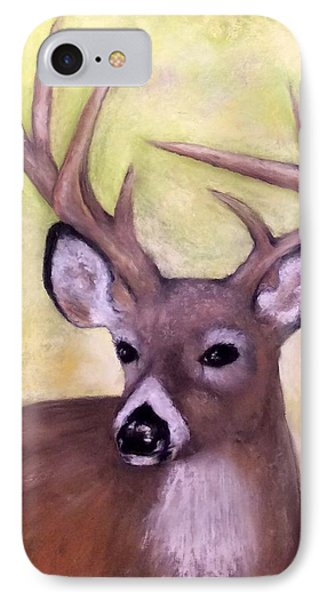 IPhone Case featuring the painting Tennessee Wild Life - Buck by Annamarie Sidella-Felts