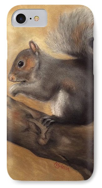 IPhone Case featuring the painting Tennessee Wildlife - Gray Squirrels by Annamarie Sidella-Felts