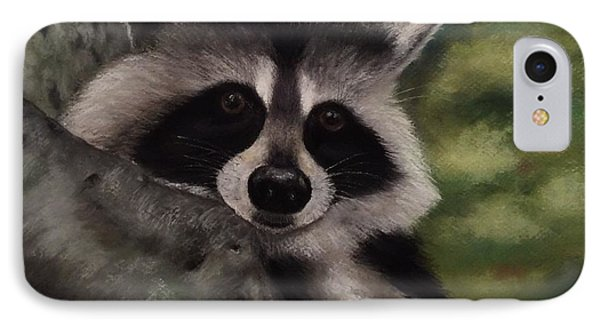 IPhone Case featuring the painting Tennessee Wildlife - Raccoon by Annamarie Sidella-Felts
