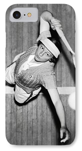Tennis Champ Sylvia Henrotin IPhone Case by Underwood Archives