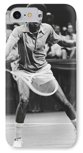 Tennis Champion Arthur Ashe IPhone Case by Underwood Archives