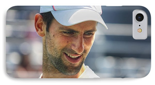 Tennis Champion Novak Djokovic IPhone Case by Nishanth Gopinathan