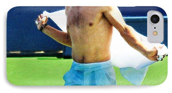 Tennis Champion Rafa Nadal  IPhone Case by Nishanth Gopinathan