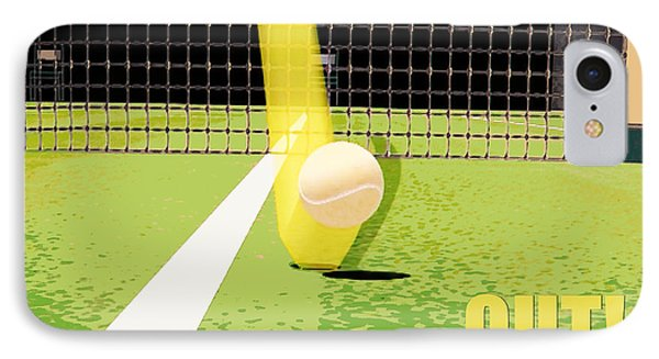 Tennis Hawkeye Out IPhone Case