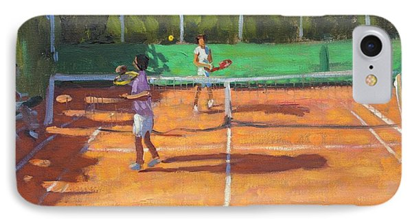 Tennis Practice IPhone Case by Andrew Macara