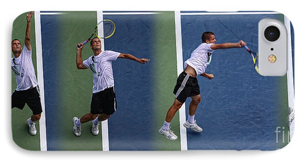 Tennis Serve By Mikhail Youzhny IPhone Case by Nishanth Gopinathan