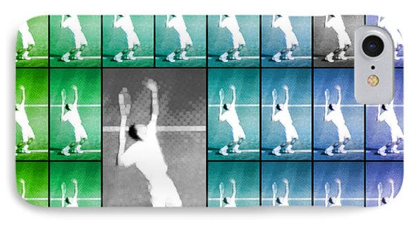 Tennis Serve Mosaic Abstract IPhone Case
