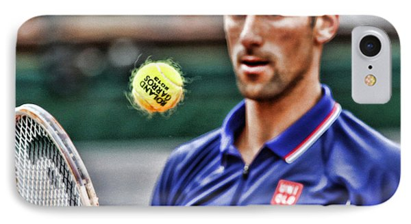 Tennis Star Novak Djokovic IPhone Case by Srdjan Petrovic