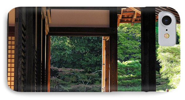 IPhone Case featuring the photograph Tenryui-ji - Temple - Kyoto by Jacqueline M Lewis