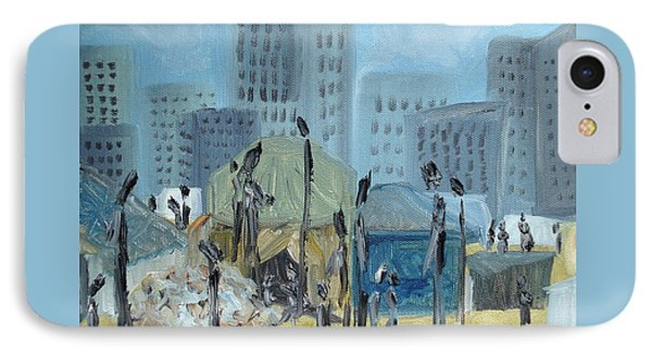Tent City Homeless Phone Case by Judith Rhue