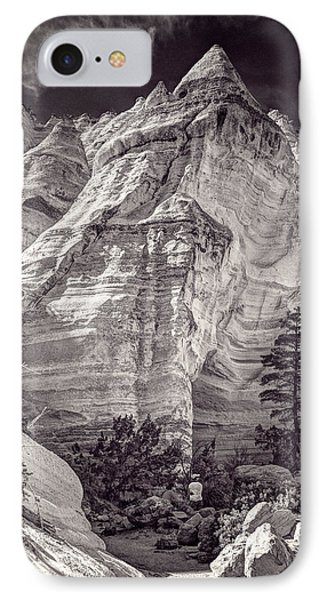 Tent Rocks No. 2 Bw IPhone Case