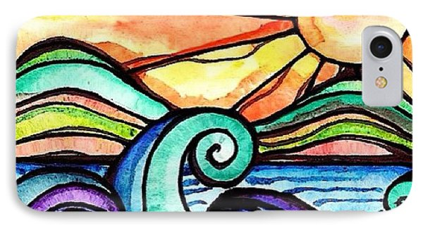 Tequila Sunrise #aceo #artcard #art IPhone Case by Robin Mead