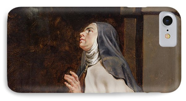 Teresa Of Avilas Vision Of A Dove IPhone Case by Peter Paul Rubens