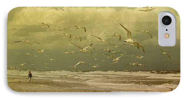 Terns In The Clouds IPhone Case by Deborah Benoit