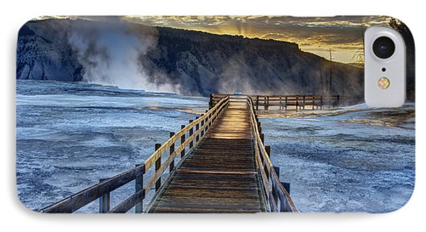 Terrace Boardwalk IPhone Case by Mark Kiver