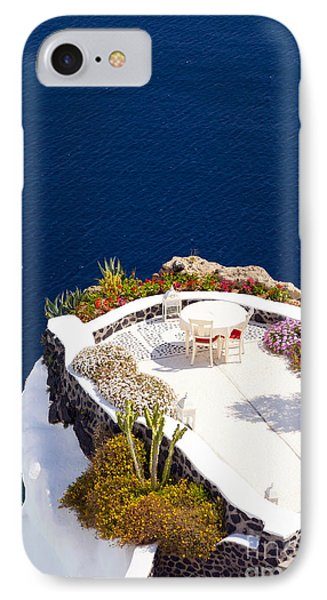 Terrace Garden On The Cliff IPhone Case by Aiolos Greek Collections