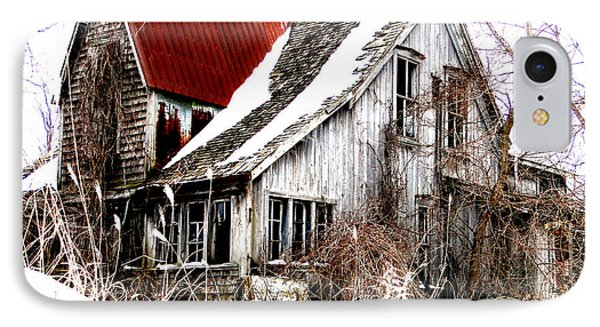 IPhone Case featuring the mixed media Terrance Laird Farm House Thedford by Bruce Ritchie