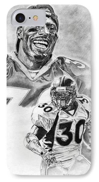 Terrell Davis Phone Case by Jonathan Tooley