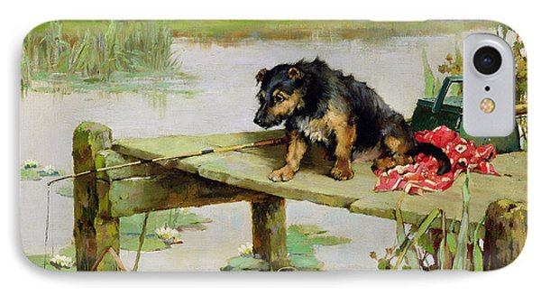 Terrier - Fishing Phone Case by Philip Eustace Stretton