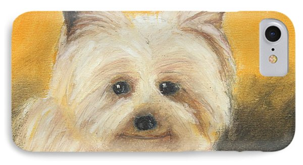 IPhone Case featuring the painting Terrier by Jeanne Fischer