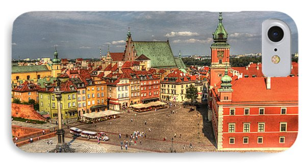 Terrific Warsaw - The Castle And Old Town View IPhone Case by Julis Simo