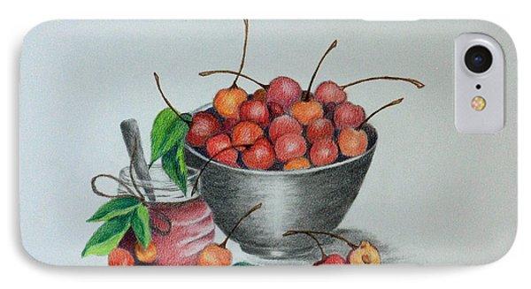 Terri's Cherries IPhone Case by Terri Mills