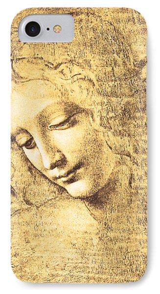 Testa Di Fanciulla Detta La Scapigliata IPhone Case by Leonardo Da Vinci