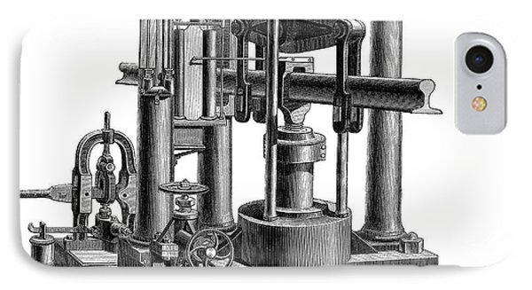 Testing Machine, 1878 IPhone Case by Granger