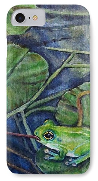 IPhone Case featuring the painting Testing The Waters by Kimberlee Baxter