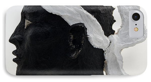 Tete De Maure - Papier Mache Phone Case by Christian V Stanescu